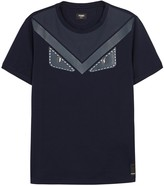 Fendi Navy Studded Appliqué Cotton T-shirt