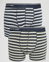 Selected Homme Trunks 2 Pack With Stripe