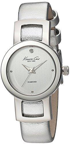 Kenneth Cole New York Women's 10022297 Genuine Diamond- Rock Out Analog Display Japanese Quartz Silver Watch