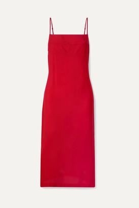 Haight Paula Cady Midi Dress - Red