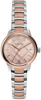 Burberry Women's Swiss The Classic Round Two-Tone Stainless Steel Timepiece 32mm BU10117