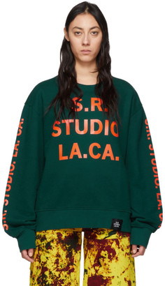 S.R. STUDIO. LA. CA. Green and Orange Vampire Sunrise Sweatshirt