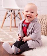 Wendy Bellissimo Gray Cardigan Set - Infant
