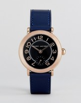 Marc Jacobs Navy Leather Riley Watch