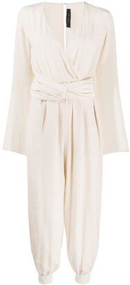 FEDERICA TOSI Draped V-Neck Jumpsuit