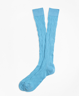 Brooks Brothers Cable Over-the-Calf Socks