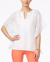 Alfani Dot-Lace Poncho Top, Only at Macy's