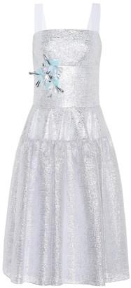 DELPOZO Embellished metallic midi dress