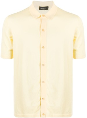 Roberto Collina Buttoned Cotton Polo Shirt