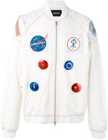 Sankuanz - space motif bomber jacket - men - Polyester/Tencel/Polyamide - S