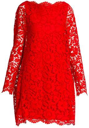 Valentino Heavy Lace Cape Mini Dress