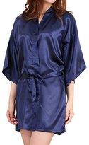 Geval Women's Knee Length Kimono Robe Soft Pajamas Nightshirts(,XS)