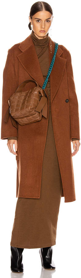 Acne Studios Carice Coat in Rusty Brown | FWRD