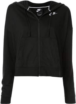Nike zip-up logo hoodie