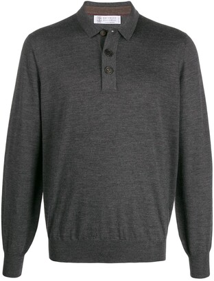 Brunello Cucinelli Regular-Fit Buttoned Pullover