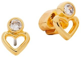 Kate Spade Goldtone & Cubic Zirconia Open Heart Stud Earrings