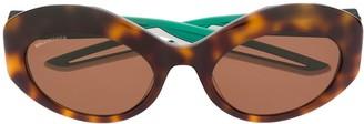 Balenciaga Eyewear round tortoise-shell sunglasses