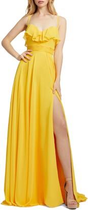 Mac Duggal Ruffle Chiffon Gown