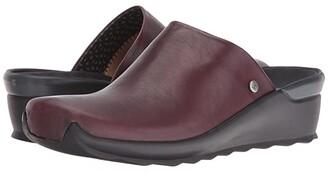 Wolky Go (Bordo Velvet Leather) Women's Sandals