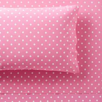 Pottery Barn Teen Dottie Sheet Set, Full, Bright Pink