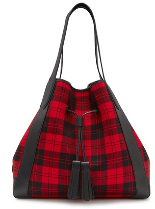 Mulberry Millie Tote Multicolour Check and Silky Calf