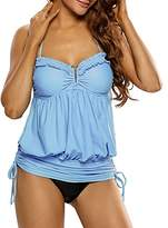 soul young YoungSoul Womens Halter Tankini Swimdress One Piece Swimsuits US 18-20