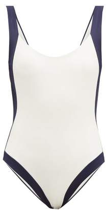 Odyssee - Aurelia Colour-block Swimsuit - Womens - Cream
