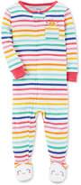 Carter's Rainbow Stripe Footed Cotton Pajamas, Baby Girls