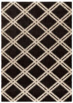 Home Outfitters Diamonds 63-Inch x 90-Inch Ivory Area Rug