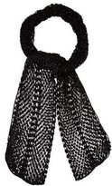 Dolce & Gabbana Bead-Embellished Open Knit Scarf