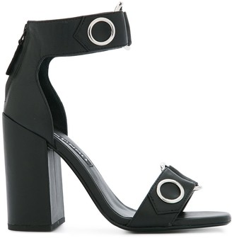 Senso Block Heeled Eyelet Sandals