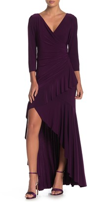 Marina Ruffled High/Low Maxi Dress