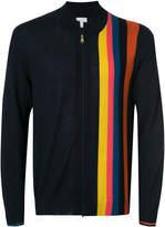 Paul Smith rainbow stripe zipped cardigan