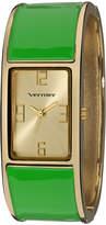 Vernier Gold & Green Bangle Watch
