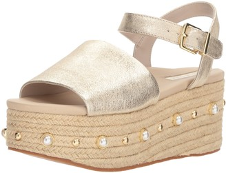 Kenneth Cole New York Women's Indra Studs Platform Espadrille Sandal with Ankle Strap Heeled