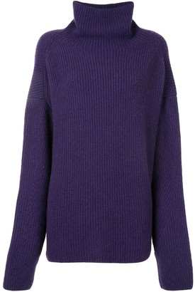 Sally LaPointe Ribbed Knit Turtleneck Jumper