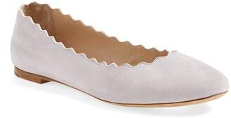 Chloé Lauren Scalloped Ballet Flat