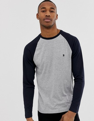 French Connection raglan contrast color long sleeve top