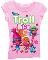 Freeze Light Pink Trolls 'Troll Life' Cap-Sleeve Tee - Girls