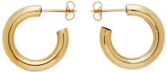 Laura Lombardi Gold Medium Hoop Earrings