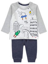 George Dinosaur in Space Top and Bottoms Set