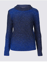 M&S Collection Textured Ombre Round Neck Jumper