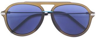 Fendi Eyewear thick frame aviator sunglasses