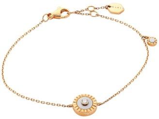 Marli Coco Femme 18K Rose Gold & White Agate Chain Bracelet