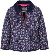 Joules Girls Newdale Print Quilted Jacket