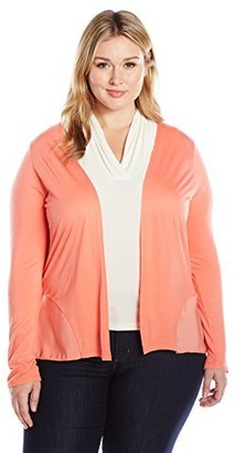 Junarose Women's Plus Size Long Sleeve Open Front Knit Cardigan