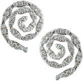 Neiman Marcus Diamonds 14k White Gold Diamond Spiral Stud Earrings