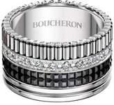 Boucheron Large Quatre Black Edition Diamond Band, Size 51