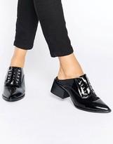 Sol Sana Claire Bar Black Patent Leather Mules