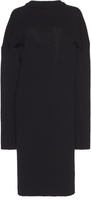 Bottega Veneta Open-Back Knitted Wool-Blend Midi Dress